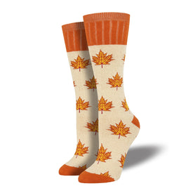 Outlands Maple Leaf Funny Outdoors Womens Novelty Crew Socks