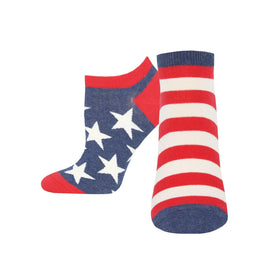 American Flag Funny USA Womens Novelty Ankle Socks