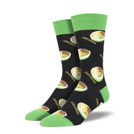 Use Your Noodle Funny Ramen Mens Novelty Crew Socks