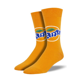 Fanta Funny Junk Food Mens Novelty Crew Socks