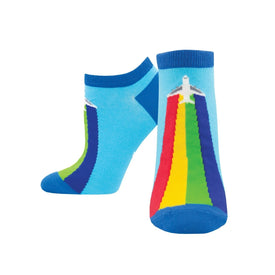 Show Your True Colors Funny Rainbows Womens Novelty Ankle Socks