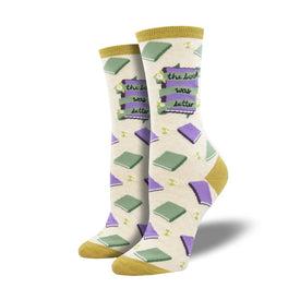 The Book Was Better Funny Geeky Womens Novelty Crew Socks