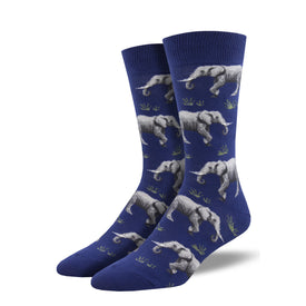 Raising A Herd Funny Wildlife Mens Novelty Crew Socks