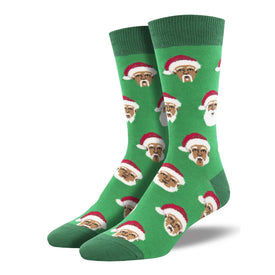 Styling Santa Funny Winter Mens Novelty Crew Socks