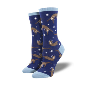 Otter Space Funny Wildlife Womens Novelty Crew Socks