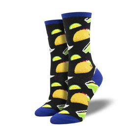 Tacos and Margs Funny Tacos Womens Novelty Crew Socks