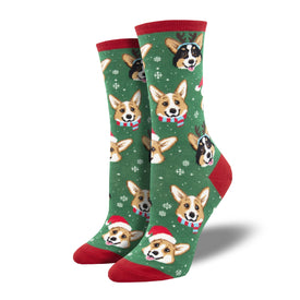 Happy Pawlidays Funny Winter Womens Novelty Crew Socks