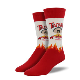 Tapatio XL Funny Tacos Mens Novelty Crew Socks