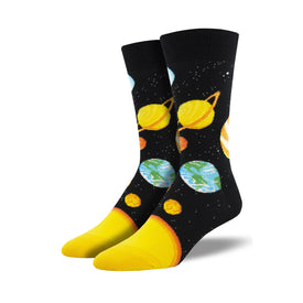 Plutonic Relationship Funny Space Mens Novelty Crew Socks