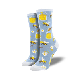 Bee My Honey Funny Spring Womens Novelty Crew Socks