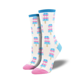 Trans Pops Funny Summer Womens Novelty Crew Socks