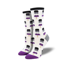 Asexual Pops Funny Summer Womens Novelty Crew Socks
