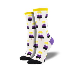 Non-Binary Pops Funny Summer Womens Novelty Crew Socks