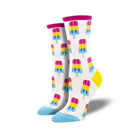 Pansexual Pops Funny Summer Womens Novelty Crew Socks