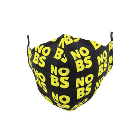 No BS Funny Words Unisex Novelty Crew Face Mask