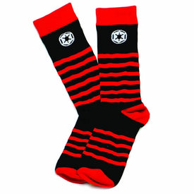 Star Wars Red Striped Imperial Funny Star Wars Mens Novelty Crew Socks