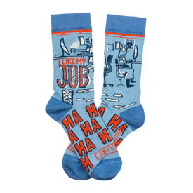 My Job Funny Worklife Unisex Novelty Crew Socks