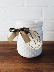 20oz. Hobnail Jar Candle