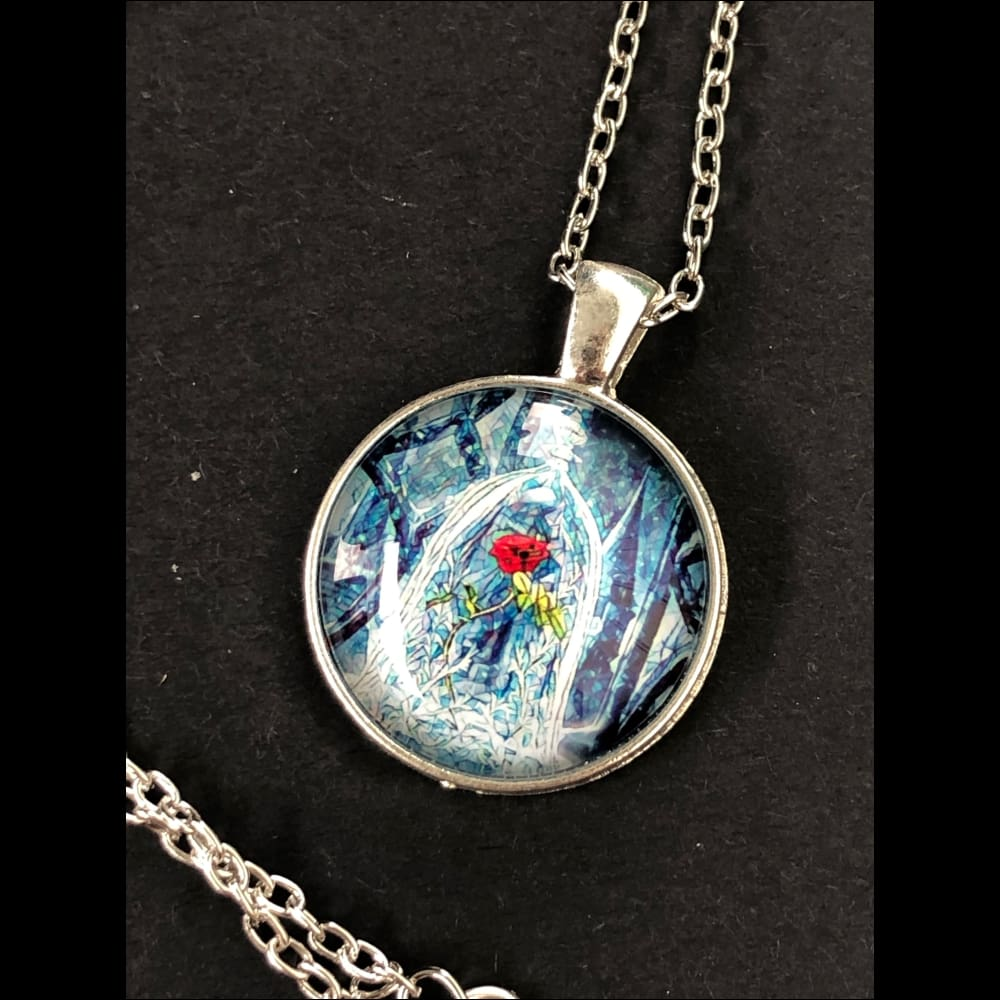 Sleeping beauty rose necklace (3)