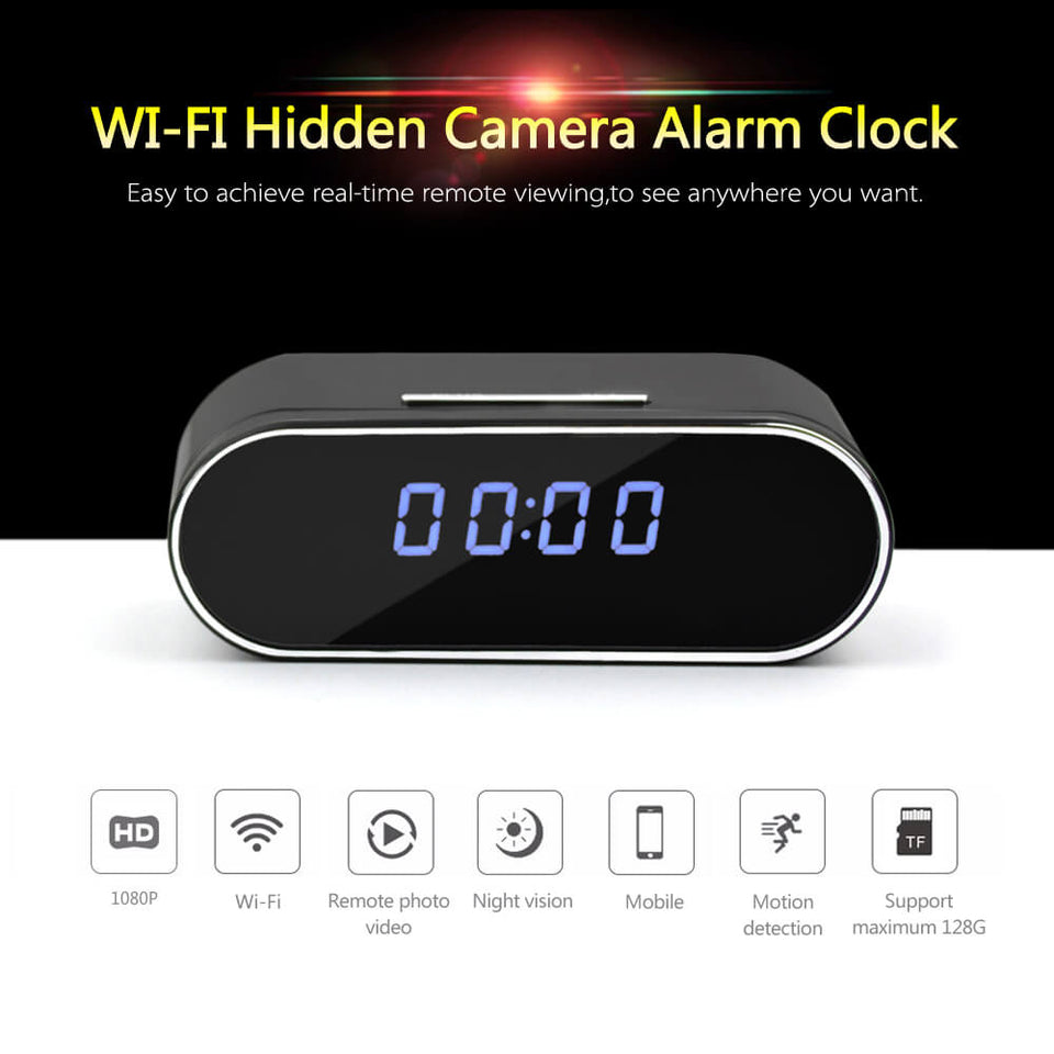 Digital Clock with Hidden Camera