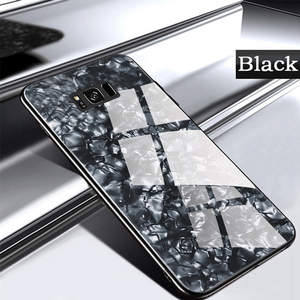 Galaxy S8/ S8 Plus Marble Pattern Tempered Glass Case
