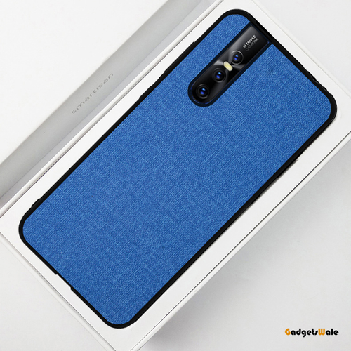 Vivo V15 & V15 Pro Luxury Silicone Edge+Hard Cloth Texture Case