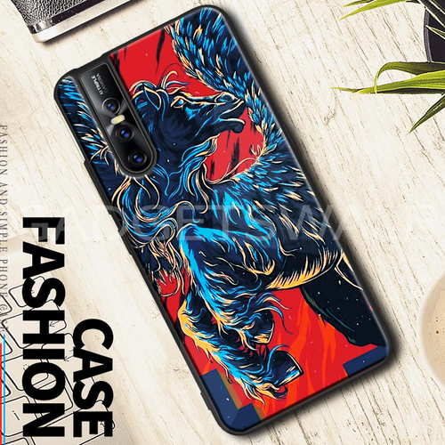 Vivo V15 & V15 Pro Horse - Universal Symbol of Freedom Pattern Glass Case