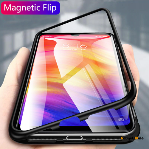 Redmi Note 7 & Note 7 Pro Electronic Auto-Fit Magnetic Glass Case