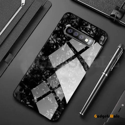 Samsung Galaxy Luxury Marble Pattern Tempered Glass Case