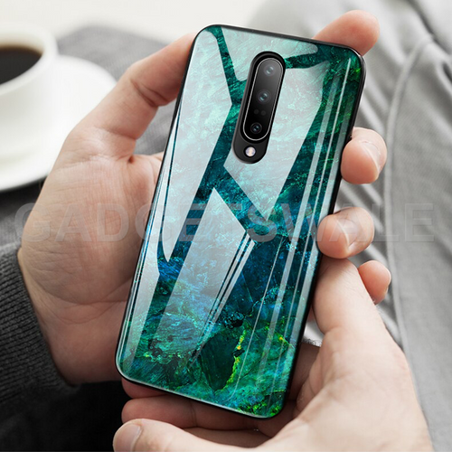 OnePlus 7 Pro Luxury Artistic Marble Glass Case