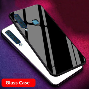Galaxy A9 2018 Luxury Tempered Glass Phone Case