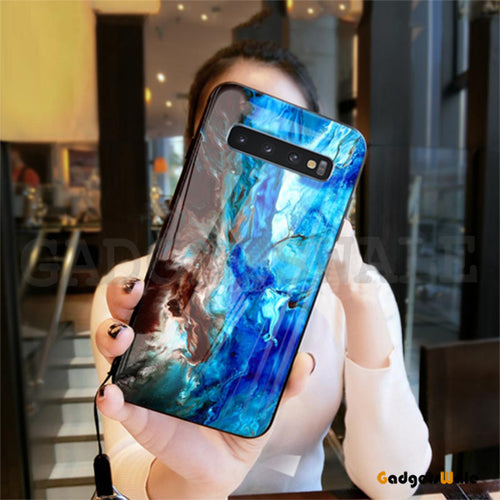 Samsung Galaxy S10/ S10 Plus Luxury Artistic Marble Glass Case