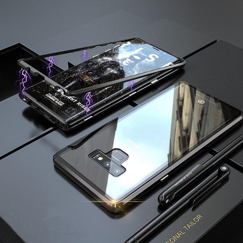 Galaxy Note 9 Electronic Auto-Fit Magnetic Glass Case