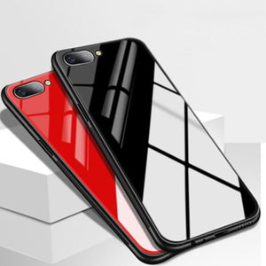 Oppo F9 Pro Smooth Luxury Ultra Thin Glass Shell Case