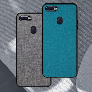 Oppo F9 / F9 Pro Luxury Cloth Series Case With Back Protection