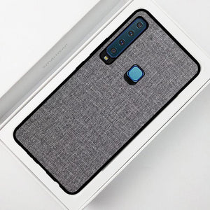 Galaxy A9 2018 Premium Fabric Cloth Case With Back Protection