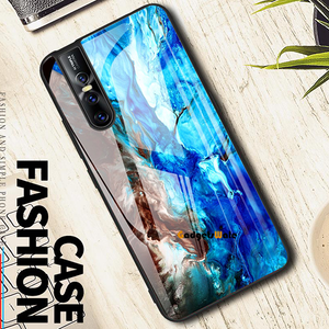 Vivo V15 & V15 Pro Luxury Artistic Marble Glass Case