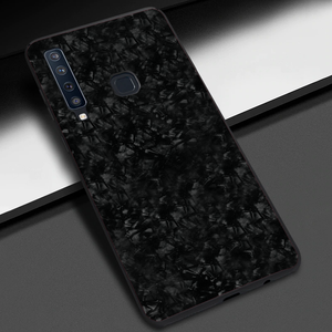 Galaxy A9 2018 Luxury Marble Pattern Tempered Glass Case