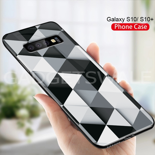 Galaxy S10/ S10 Plus Ashford Color Marble Pattern Glass Case