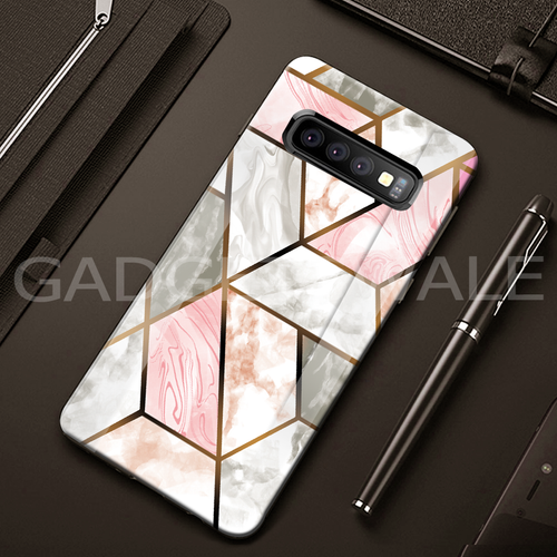 Galaxy S10/ S10 Plus Cosmo Marble Pattern Glass Case