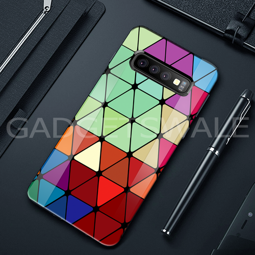 Galaxy S10/ S10 Plus Adobe Color Marble Pattern Glass Case