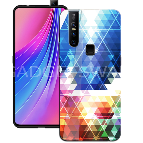 Oppo F11 Pro Prism Marble Pattern Glass Case