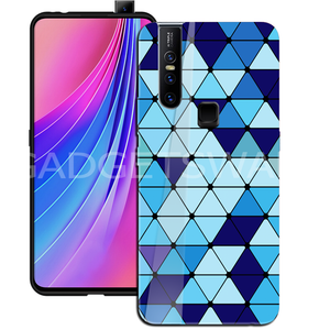 Oppo F11 Pro Spheres Blue Marble Pattern Glass Case