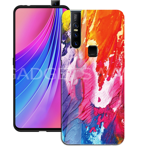 Oppo F11 Pro Color Splash Marble Pattern Glass Case