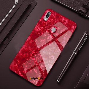 Samsung Galaxy A30 Marble Pattern Tempered Glass Case