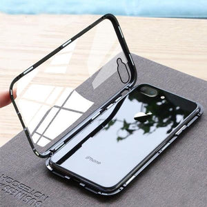 iPhone Non-Breakable 7, 8 Electronic Auto-Fit Magnetic Glass Case