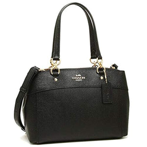 COACH MINI BROOKE CARRYALL F25395, LIGHT GOLD/BLACK