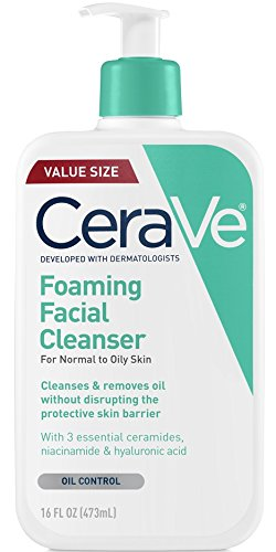 CeraVe Foaming Facial Cleanser | 16 Ounce | Daily Face Wash for Oily Skin | Fragrance Free