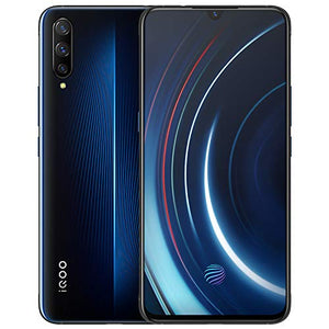 IQOO 6G+128GB 6G+128GB 5G LTE Android Snapdragon 855 22.5W Flash Charg Octa Core AMOLED NFC Type-C GPS 4000mAh Cellphone by-(Real Star Technology) (6G+128GB Blue)