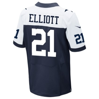 official photos 8a646 1df5d Dallas Cowboys Ezekiel Elliott Nike Game Replica Throwback Jersey